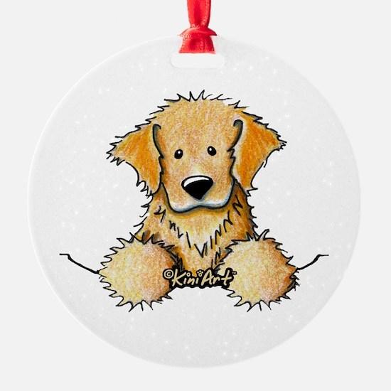 Pocket Golden Retriever Ornament