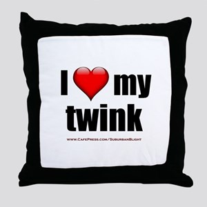 """""""Love My Twink"""" Throw Pillow"""