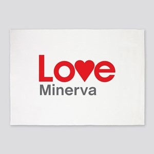 I Love Minerva 5'x7'Area Rug