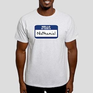 Hello: Nathanial Ash Grey T-Shirt