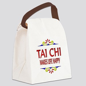 Tai Chi Happy Canvas Lunch Bag