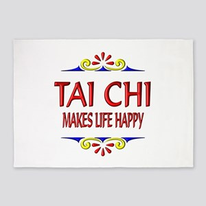 Tai Chi Happy 5'x7'Area Rug