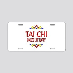Tai Chi Happy Aluminum License Plate