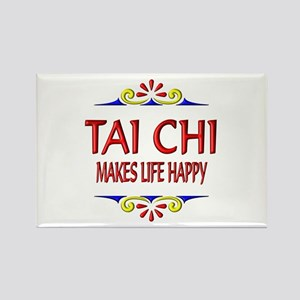 Tai Chi Happy Rectangle Magnet