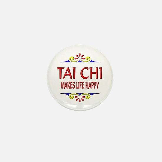 Tai Chi Happy Mini Button