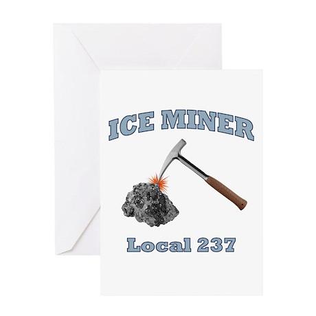 Ice Miner Greeting Card