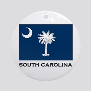 South Carolina Flag Stuff Ornament (Round)