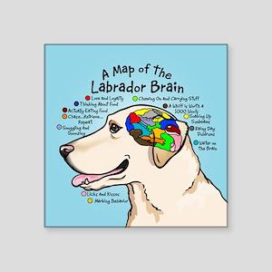Yellow Lab Brain Sticker