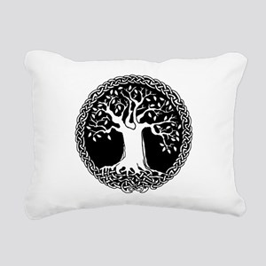 Celtic Tree Rectangular Canvas Pillow