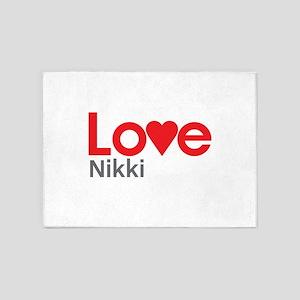 I Love Nikki 5'x7'Area Rug