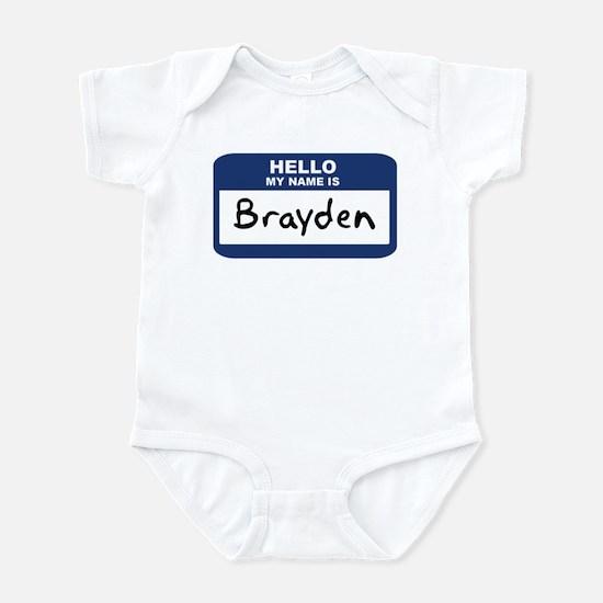 Hello: Brayden Infant Bodysuit