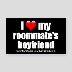 """Love Roommate's Boyfriend"" Rectangle Car Magnet"