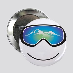 "Happy Skier/Boarder 2.25"" Button"