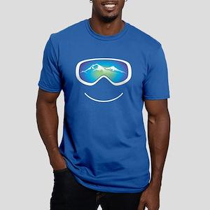 Happy Skier/Boarder Men's Fitted T-Shirt (Dark)