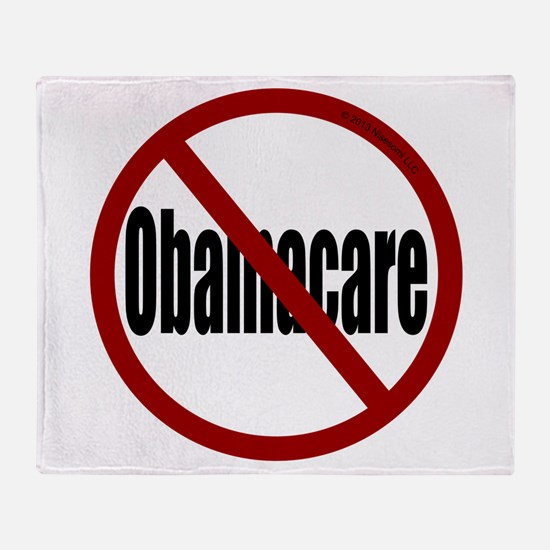 No Obamacare Throw Blanket