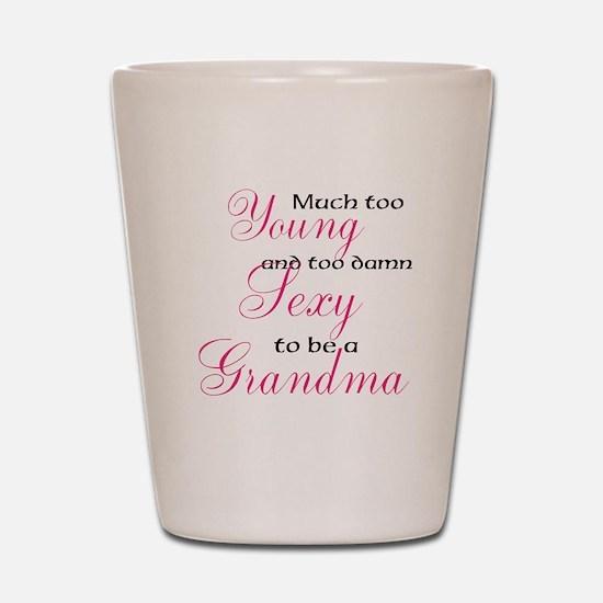 Sexy young grandma Shot Glass