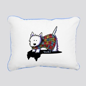 Westie Coat Rectangular Canvas Pillow
