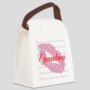 Grandma (red) Canvas Lunch Bag
