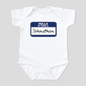 Hello: Johnathon Infant Bodysuit