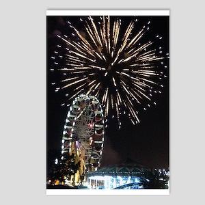 Fireworks Over Fairground Print Postcards (Package