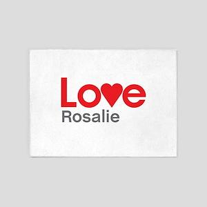 I Love Rosalie 5'x7'Area Rug