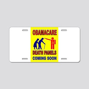 OBAMACARE DEATH Aluminum License Plate