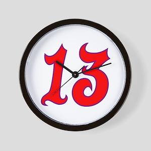Fire 13 Wall Clock