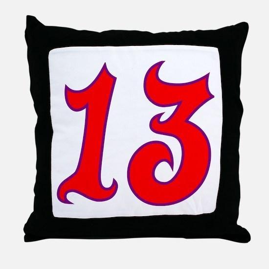 Fire 13 Throw Pillow