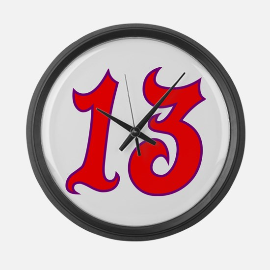 Fire 13 Large Wall Clock