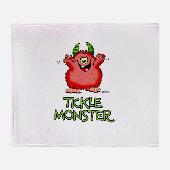 Red Tickle Monster with horns and one eye Stadium