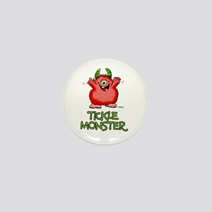 Red Tickle Monster with horns and one eye Mini But
