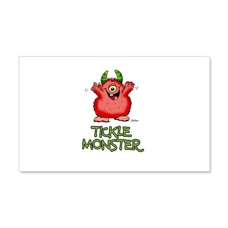 Red Tickle Monster with horns and one eye Wall Dec
