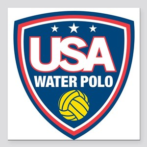 "water polo Square Car Magnet 3"" x 3"""