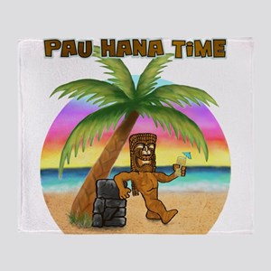Pau Hana Tiki Throw Blanket