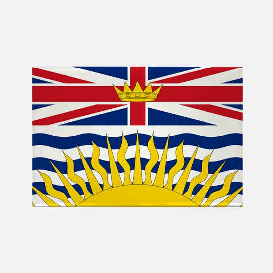 British Columbian Flag Rectangle Magnet (100 pack)