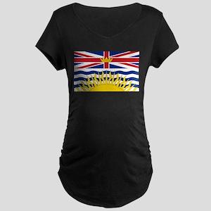 British Columbian Flag Maternity T-Shirt