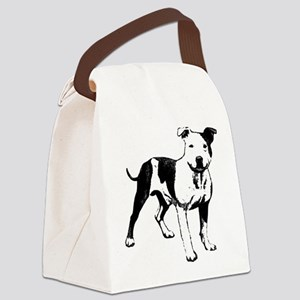 Bull Terrier Canvas Lunch Bag