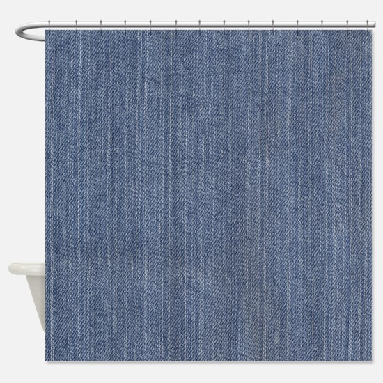 Blue Denim Jean Shower Curtain