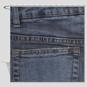 Denim Pocket Shower Curtain