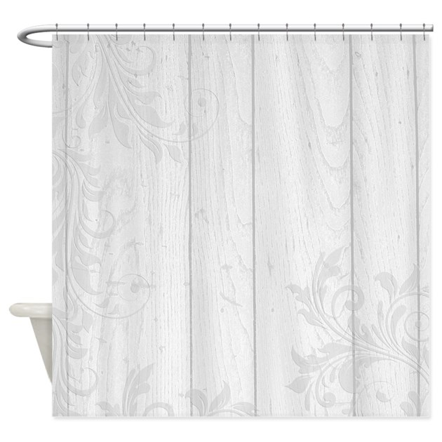 Elegant White Floral Shower Curtain By Be Inspired Life
