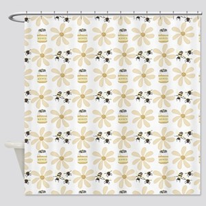 Bees and Honey Shower Curtain