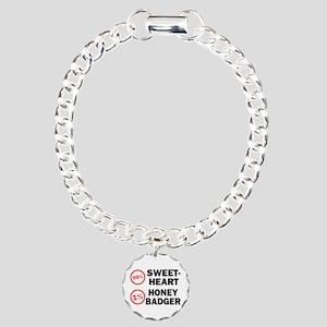 Sweetheart vs. Honey Badger Charm Bracelet, One Ch