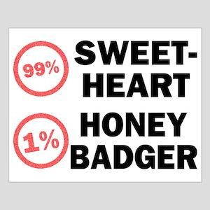 Sweetheart vs. Honey Badger Small Poster