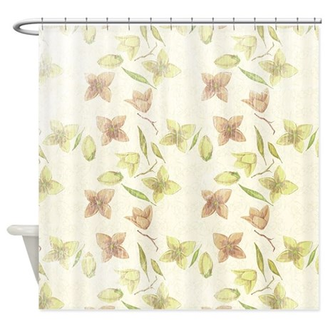 Soft Floral Shower Curtain