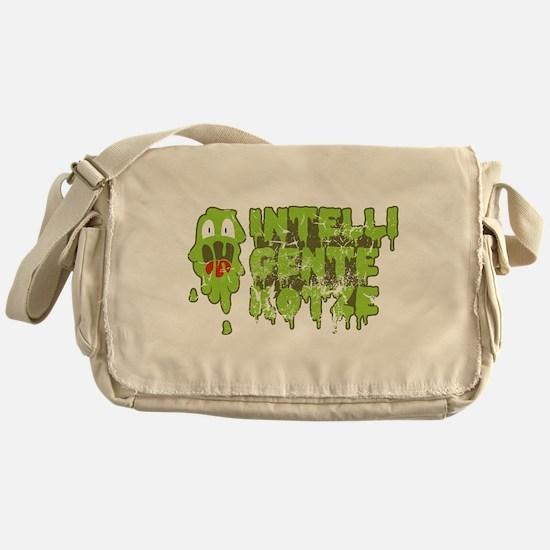Kotze mit hohem IQ Messenger Bag