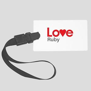 I Love Ruby Luggage Tag