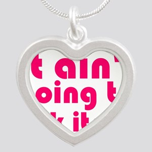 it aint going to lick itself Silver Heart Necklace