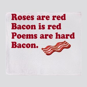 Bacon Poem Throw Blanket