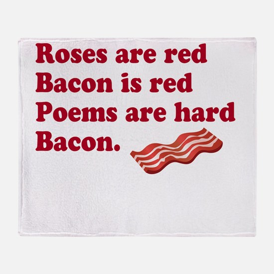 Bacon Poem Throw Blanket