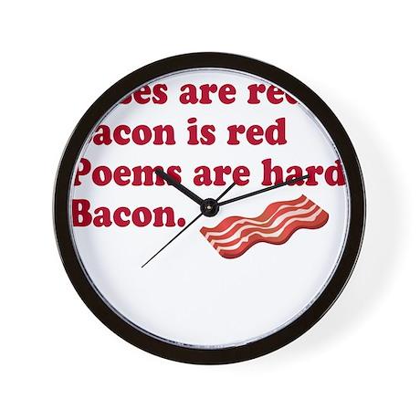 Bacon Poem Wall Clock